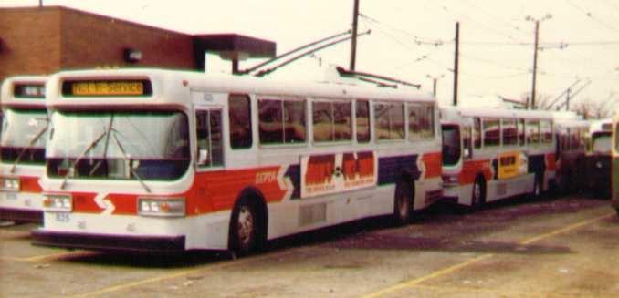 (67k, 678x327)<br><b>Country:</b> United States<br><b>City:</b> Philadelphia, PA<br><b>System:</b> SEPTA (or Predecessor)<br><b>Line:</b> SEPTA Trackless Trolley Routes<br><b>Car:</b> PTC/SEPTA AM General 10240-E Trackless (1979) 825 <br><b>Photo by:</b> Bob Wright<br><b>Date:</b> 1980<br><b>Viewed (this week/total):</b> 0 / 1188