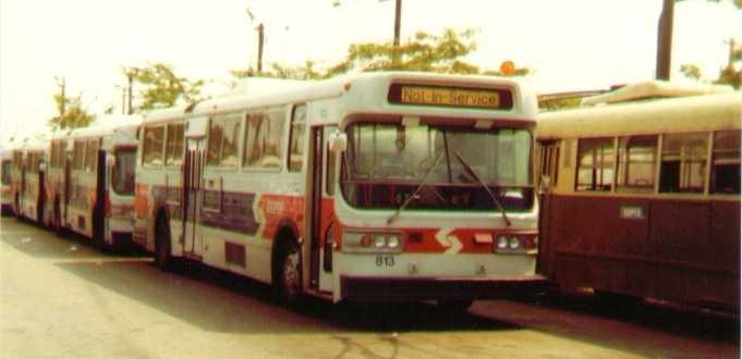 (66k, 681x330)<br><b>Country:</b> United States<br><b>City:</b> Philadelphia, PA<br><b>System:</b> SEPTA (or Predecessor)<br><b>Line:</b> SEPTA Trackless Trolley Routes<br><b>Car:</b> PTC/SEPTA AM General 10240-E Trackless (1979) 813 <br><b>Photo by:</b> Bob Wright<br><b>Date:</b> 1981<br><b>Viewed (this week/total):</b> 0 / 1240