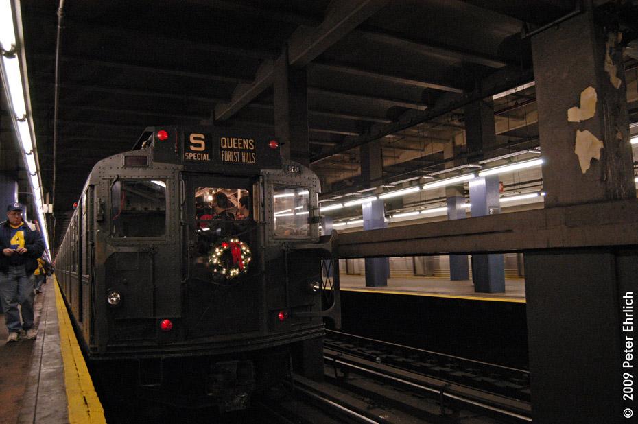 (200k, 930x618)<br><b>Country:</b> United States<br><b>City:</b> New York<br><b>System:</b> New York City Transit<br><b>Line:</b> IND 6th Avenue Line<br><b>Location:</b> 2nd Avenue <br><b>Route:</b> Museum Train Service (V)<br><b>Car:</b> R-6-1 (Pressed Steel, 1936)  1300 <br><b>Photo by:</b> Peter Ehrlich<br><b>Date:</b> 12/28/2008<br><b>Viewed (this week/total):</b> 0 / 1371