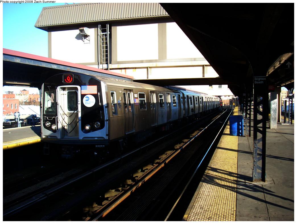 (270k, 1044x788)<br><b>Country:</b> United States<br><b>City:</b> New York<br><b>System:</b> New York City Transit<br><b>Line:</b> BMT Brighton Line<br><b>Location:</b> Brighton Beach <br><b>Route:</b> Q<br><b>Car:</b> R-160B (Option 1) (Kawasaki, 2008-2009)  9083 <br><b>Photo by:</b> Zach Summer<br><b>Date:</b> 12/25/2008<br><b>Viewed (this week/total):</b> 4 / 2096