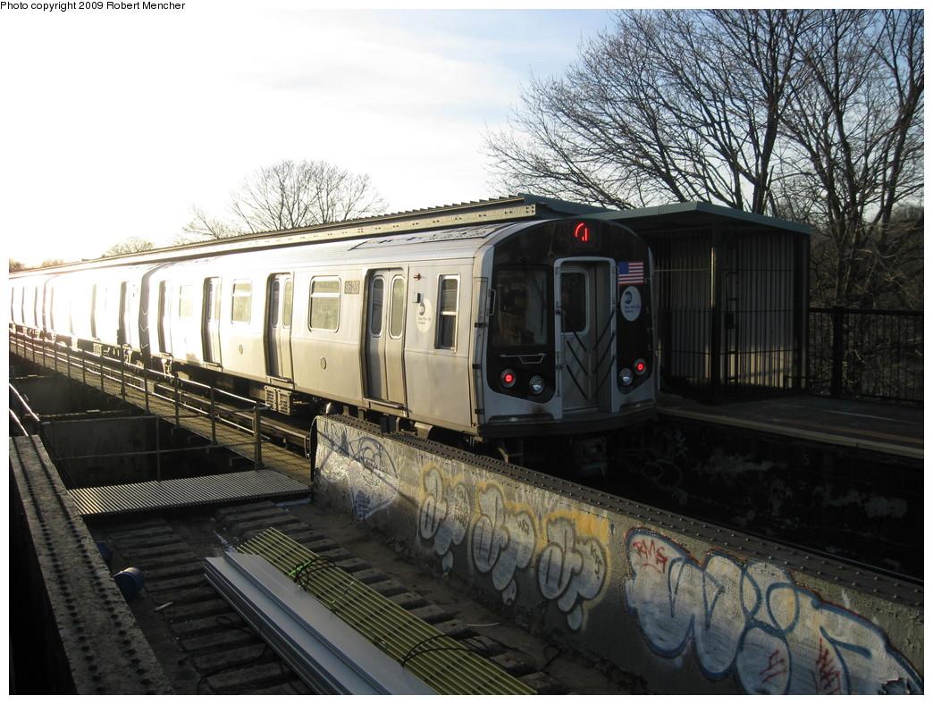 (254k, 1044x788)<br><b>Country:</b> United States<br><b>City:</b> New York<br><b>System:</b> New York City Transit<br><b>Line:</b> BMT Nassau Street-Jamaica Line<br><b>Location:</b> Cypress Hills<br><b>Route:</b> J<br><b>Car:</b> R-160A-1 (Alstom, 2005-2008, 4 car sets) 8625 <br><b>Photo by:</b> Robert Mencher<br><b>Date:</b> 1/4/2009<br><b>Viewed (this week/total):</b> 1 / 1866