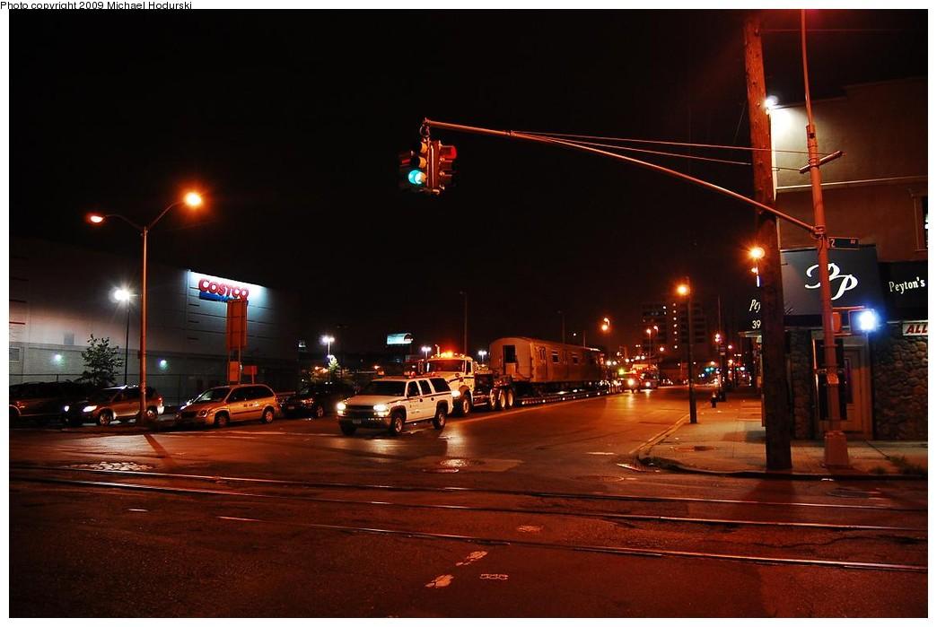 (181k, 1044x699)<br><b>Country:</b> United States<br><b>City:</b> New York<br><b>System:</b> New York City Transit<br><b>Line:</b> South Brooklyn Railway<br><b>Location:</b> 2nd Avenue (SBK)<br><b>Car:</b> R-44 SIRT (St. Louis, 1971-1973) 388 <br><b>Photo by:</b> Michael Hodurski<br><b>Date:</b> 9/29/2008<br><b>Notes:</b> Trucking SIRT R44 388 to SBK.<br><b>Viewed (this week/total):</b> 1 / 2226