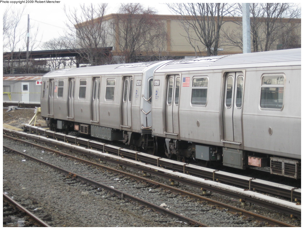 (267k, 1044x788)<br><b>Country:</b> United States<br><b>City:</b> New York<br><b>System:</b> New York City Transit<br><b>Location:</b> East New York Yard/Shops<br><b>Car:</b> R-143 (Kawasaki, 2001-2002) 8200 <br><b>Photo by:</b> Robert Mencher<br><b>Date:</b> 1/5/2009<br><b>Viewed (this week/total):</b> 0 / 858