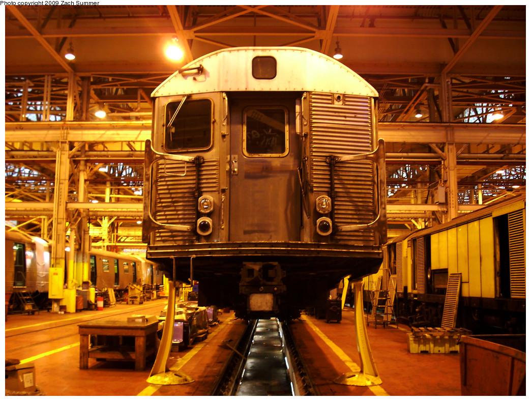(358k, 1044x788)<br><b>Country:</b> United States<br><b>City:</b> New York<br><b>System:</b> New York City Transit<br><b>Location:</b> Coney Island Shop/Overhaul & Repair Shop<br><b>Car:</b> R-32 (Budd, 1964)  3357 <br><b>Photo by:</b> Zach Summer<br><b>Date:</b> 12/27/2008<br><b>Viewed (this week/total):</b> 2 / 986
