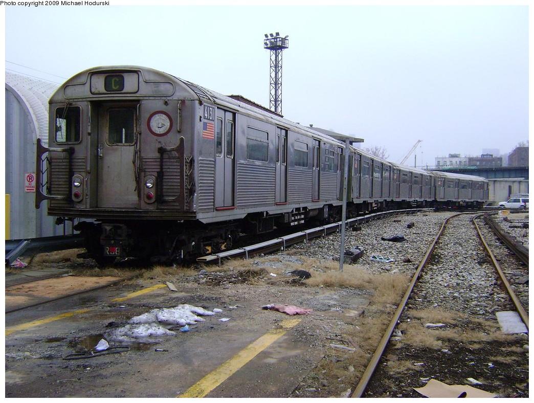 (267k, 1044x788)<br><b>Country:</b> United States<br><b>City:</b> New York<br><b>System:</b> New York City Transit<br><b>Location:</b> 207th Street Yard<br><b>Car:</b> R-38 (St. Louis, 1966-1967)  4131 <br><b>Photo by:</b> Michael Hodurski<br><b>Date:</b> 12/27/2008<br><b>Viewed (this week/total):</b> 0 / 1207