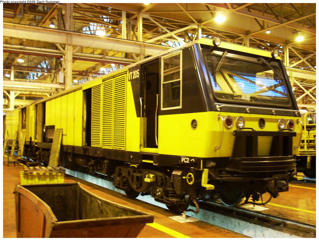 (355k, 1044x788)<br><b>Country:</b> United States<br><b>City:</b> New York<br><b>System:</b> New York City Transit<br><b>Location:</b> Coney Island Shop/Overhaul & Repair Shop<br><b>Car:</b> R-137 Vacuum Cleaning Train  205 <br><b>Photo by:</b> Zach Summer<br><b>Date:</b> 12/27/2008<br><b>Viewed (this week/total):</b> 1 / 2861