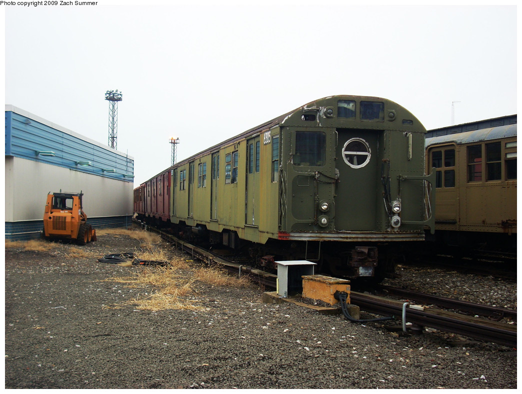 (278k, 1044x788)<br><b>Country:</b> United States<br><b>City:</b> New York<br><b>System:</b> New York City Transit<br><b>Location:</b> Coney Island Yard-Museum Yard<br><b>Car:</b> R-16 (American Car & Foundry, 1955) 6305 <br><b>Photo by:</b> Zach Summer<br><b>Date:</b> 12/27/2008<br><b>Viewed (this week/total):</b> 9 / 2263