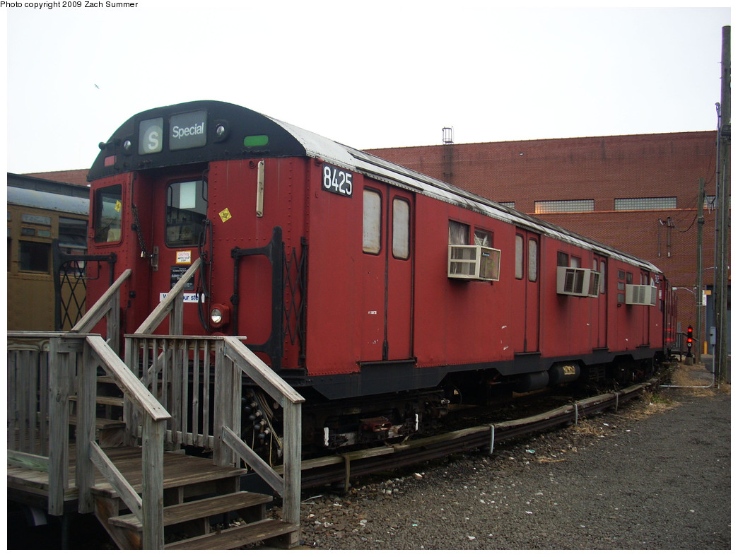 (247k, 1044x788)<br><b>Country:</b> United States<br><b>City:</b> New York<br><b>System:</b> New York City Transit<br><b>Location:</b> Coney Island Yard-Museum Yard<br><b>Car:</b> R-30 (St. Louis, 1961) 8425 <br><b>Photo by:</b> Zach Summer<br><b>Date:</b> 12/27/2008<br><b>Viewed (this week/total):</b> 0 / 1921