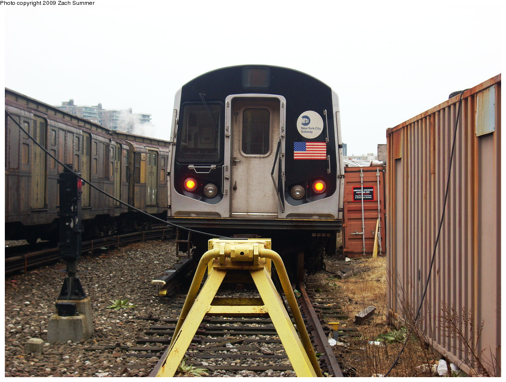 (282k, 1044x788)<br><b>Country:</b> United States<br><b>City:</b> New York<br><b>System:</b> New York City Transit<br><b>Location:</b> Coney Island Yard<br><b>Car:</b> R-143 (Kawasaki, 2001-2002) 8108 <br><b>Photo by:</b> Zach Summer<br><b>Date:</b> 12/27/2008<br><b>Viewed (this week/total):</b> 0 / 1095
