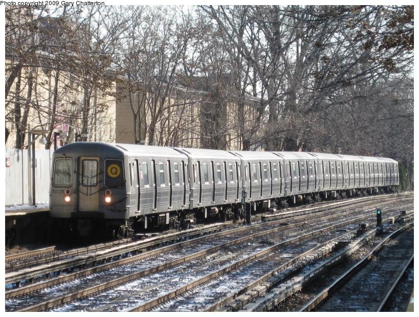 (235k, 820x620)<br><b>Country:</b> United States<br><b>City:</b> New York<br><b>System:</b> New York City Transit<br><b>Line:</b> BMT Brighton Line<br><b>Location:</b> Avenue H <br><b>Route:</b> Q<br><b>Car:</b> R-68A (Kawasaki, 1988-1989)  5146 <br><b>Photo by:</b> Gary Chatterton<br><b>Date:</b> 1/12/2009<br><b>Viewed (this week/total):</b> 0 / 1179