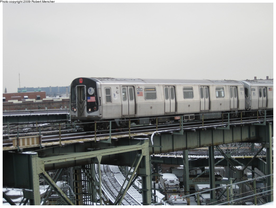 (195k, 1044x788)<br><b>Country:</b> United States<br><b>City:</b> New York<br><b>System:</b> New York City Transit<br><b>Line:</b> BMT Canarsie Line<br><b>Location:</b> Broadway Junction <br><b>Route:</b> L<br><b>Car:</b> R-143 (Kawasaki, 2001-2002) 8208 <br><b>Photo by:</b> Robert Mencher<br><b>Date:</b> 1/19/2009<br><b>Viewed (this week/total):</b> 0 / 1351