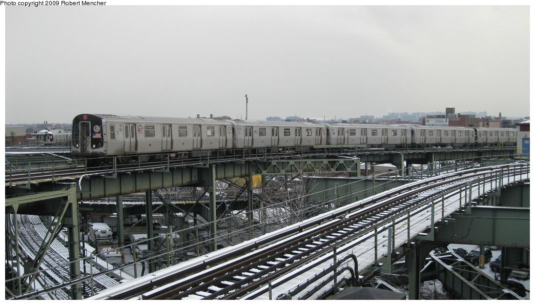 (188k, 1044x595)<br><b>Country:</b> United States<br><b>City:</b> New York<br><b>System:</b> New York City Transit<br><b>Line:</b> BMT Canarsie Line<br><b>Location:</b> Broadway Junction <br><b>Route:</b> L<br><b>Car:</b> R-143 (Kawasaki, 2001-2002) 8301 <br><b>Photo by:</b> Robert Mencher<br><b>Date:</b> 1/19/2009<br><b>Viewed (this week/total):</b> 2 / 1693