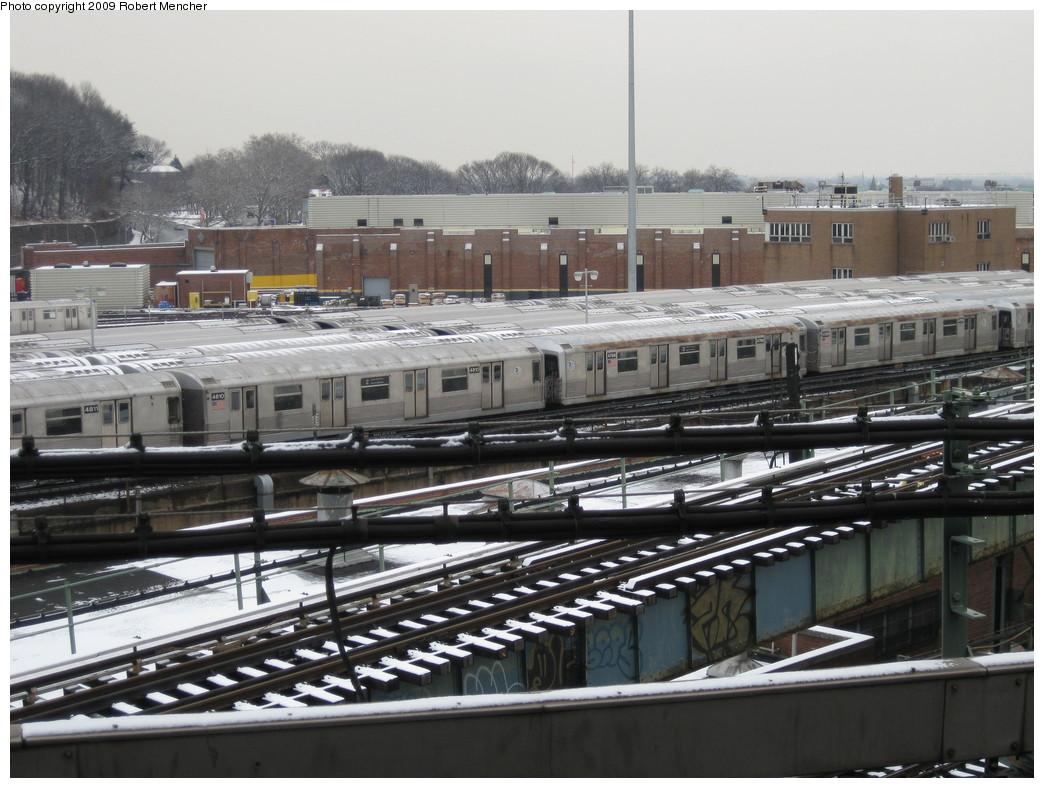 (223k, 1044x788)<br><b>Country:</b> United States<br><b>City:</b> New York<br><b>System:</b> New York City Transit<br><b>Location:</b> East New York Yard/Shops<br><b>Car:</b> R-42 (St. Louis, 1969-1970)  4810/4788/4789 <br><b>Photo by:</b> Robert Mencher<br><b>Date:</b> 1/19/2009<br><b>Viewed (this week/total):</b> 0 / 1167