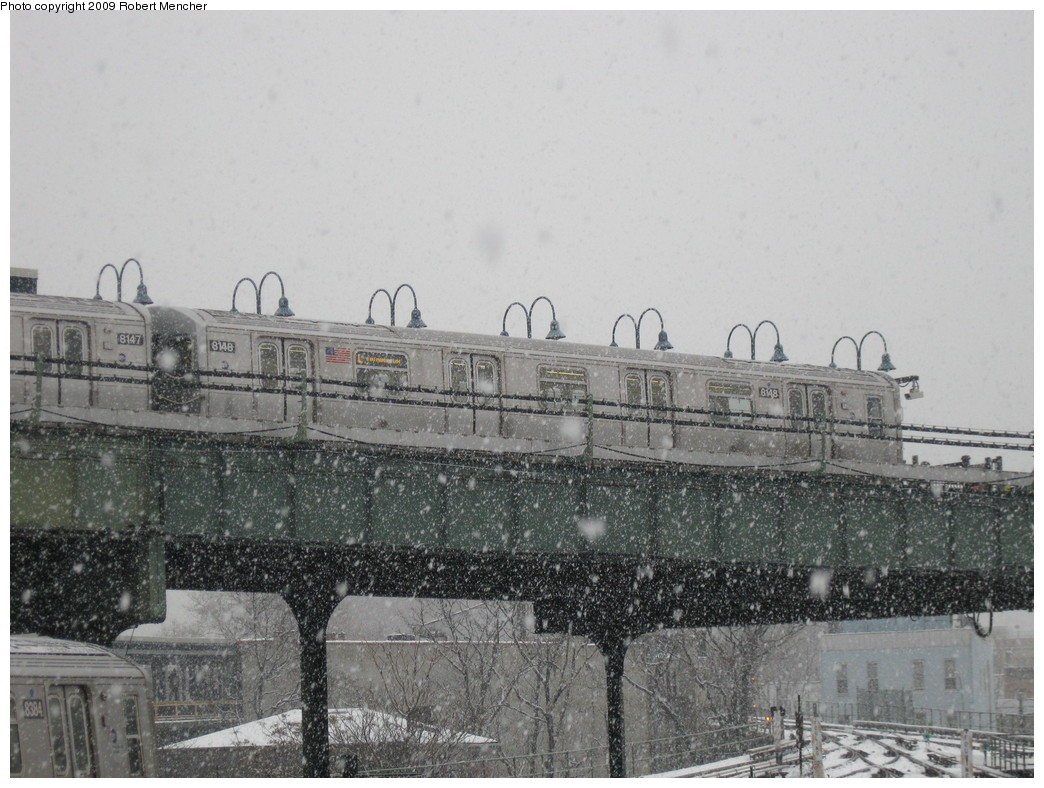 (227k, 1044x788)<br><b>Country:</b> United States<br><b>City:</b> New York<br><b>System:</b> New York City Transit<br><b>Line:</b> BMT Canarsie Line<br><b>Location:</b> Broadway Junction <br><b>Route:</b> L<br><b>Car:</b> R-143 (Kawasaki, 2001-2002) 8148 <br><b>Photo by:</b> Robert Mencher<br><b>Date:</b> 1/19/2009<br><b>Viewed (this week/total):</b> 0 / 1297