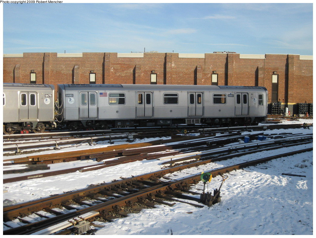 (261k, 1044x788)<br><b>Country:</b> United States<br><b>City:</b> New York<br><b>System:</b> New York City Transit<br><b>Location:</b> East New York Yard/Shops<br><b>Car:</b> R-143 (Kawasaki, 2001-2002) 8480 <br><b>Photo by:</b> Robert Mencher<br><b>Date:</b> 1/21/2009<br><b>Viewed (this week/total):</b> 0 / 1158