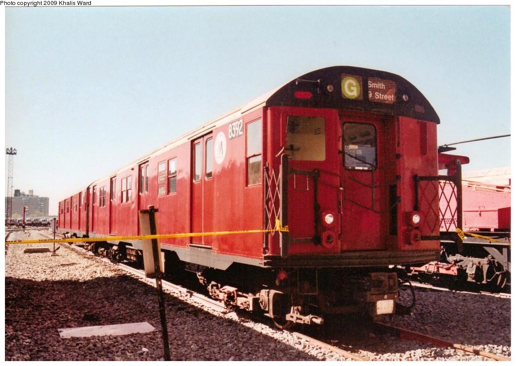 (216k, 1044x742)<br><b>Country:</b> United States<br><b>City:</b> New York<br><b>System:</b> New York City Transit<br><b>Location:</b> Coney Island Yard<br><b>Car:</b> R-30 (St. Louis, 1961) 8392 <br><b>Photo by:</b> Khalis Ward<br><b>Viewed (this week/total):</b> 0 / 2073