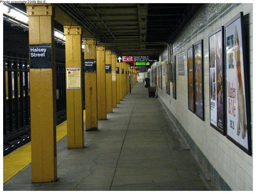 (153k, 820x620)<br><b>Country:</b> United States<br><b>City:</b> New York<br><b>System:</b> New York City Transit<br><b>Line:</b> BMT Canarsie Line<br><b>Location:</b> Halsey Street <br><b>Photo by:</b> Bill E.<br><b>Date:</b> 12/29/2008<br><b>Viewed (this week/total):</b> 2 / 1606