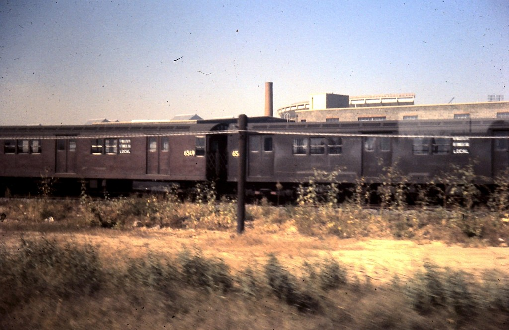 (165k, 1024x664)<br><b>Country:</b> United States<br><b>City:</b> New York<br><b>System:</b> New York City Transit<br><b>Location:</b> Corona Yard<br><b>Car:</b> R-17 (St. Louis, 1955-56) 6549 <br><b>Collection of:</b> John Barnes<br><b>Date:</b> 10/5/1963<br><b>Viewed (this week/total):</b> 2 / 1719