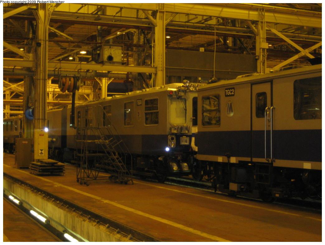 (228k, 1044x788)<br><b>Country:</b> United States<br><b>City:</b> New York<br><b>System:</b> New York City Transit<br><b>Location:</b> Coney Island Shop/Overhaul & Repair Shop<br><b>Car:</b> Track Geometry Car TGC2/4 <br><b>Photo by:</b> Robert Mencher<br><b>Date:</b> 2/11/2009<br><b>Viewed (this week/total):</b> 6 / 1177