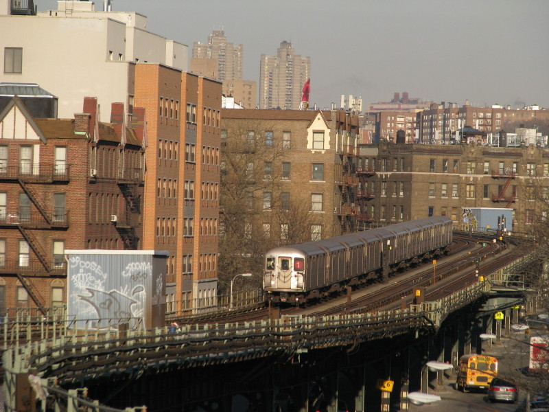 (168k, 800x600)<br><b>Country:</b> United States<br><b>City:</b> New York<br><b>System:</b> New York City Transit<br><b>Line:</b> IRT West Side Line<br><b>Location:</b> Dyckman Street <br><b>Route:</b> 1<br><b>Car:</b> R-62A (Bombardier, 1984-1987)  2170 <br><b>Photo by:</b> Andrew Johnson<br><b>Date:</b> 2/6/2009<br><b>Viewed (this week/total):</b> 3 / 2055
