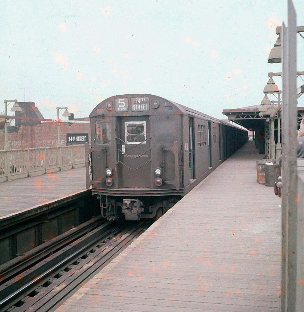 (443k, 986x1012)<br><b>Country:</b> United States<br><b>City:</b> New York<br><b>System:</b> New York City Transit<br><b>Line:</b> IRT White Plains Road Line<br><b>Location:</b> 241st Street<br><b>Route:</b> 5<br><b>Car:</b> R-22 (St. Louis, 1957-58) 7450 <br><b>Collection of:</b> Collection of nycsubway.org<br><b>Viewed (this week/total):</b> 0 / 2728