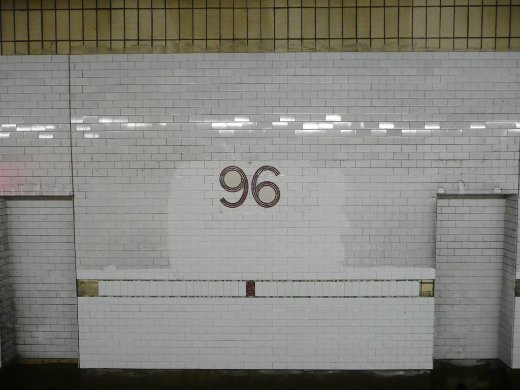 (87k, 1024x768)<br><b>Country:</b> United States<br><b>City:</b> New York<br><b>System:</b> New York City Transit<br><b>Line:</b> IRT West Side Line<br><b>Location:</b> 96th Street <br><b>Photo by:</b> Robbie Rosenfeld<br><b>Date:</b> 2/23/2009<br><b>Notes:</b> New tile renovation.<br><b>Viewed (this week/total):</b> 2 / 1074