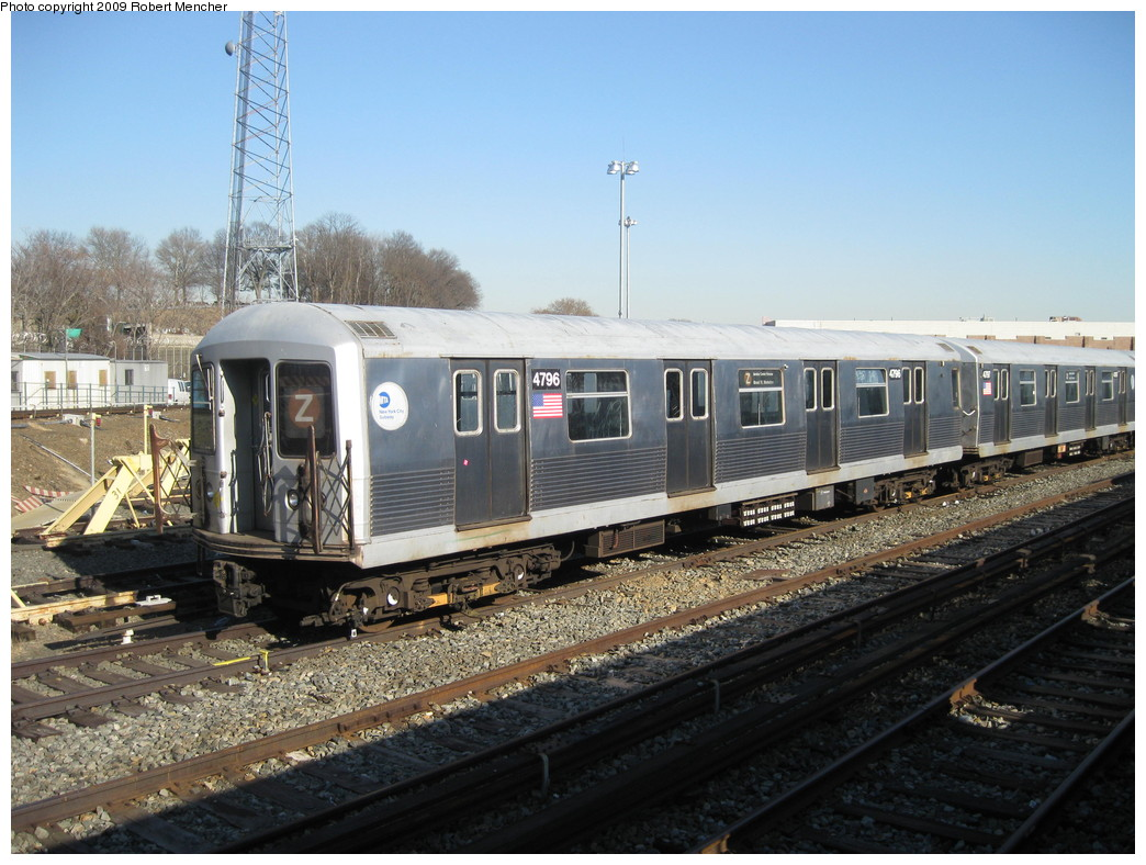 (235k, 1044x788)<br><b>Country:</b> United States<br><b>City:</b> New York<br><b>System:</b> New York City Transit<br><b>Location:</b> East New York Yard/Shops<br><b>Car:</b> R-42 (St. Louis, 1969-1970)  4796 <br><b>Photo by:</b> Robert Mencher<br><b>Date:</b> 2/25/2009<br><b>Viewed (this week/total):</b> 1 / 1098