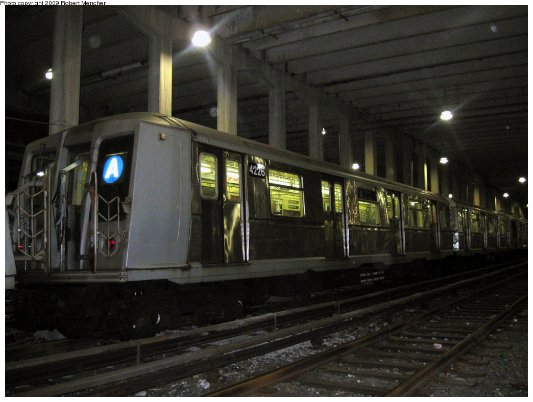 (284k, 1044x788)<br><b>Country:</b> United States<br><b>City:</b> New York<br><b>System:</b> New York City Transit<br><b>Location:</b> Pitkin Yard/Shops<br><b>Car:</b> R-40 (St. Louis, 1968)  4226 <br><b>Photo by:</b> Robert Mencher<br><b>Date:</b> 2/28/2009<br><b>Viewed (this week/total):</b> 1 / 1210