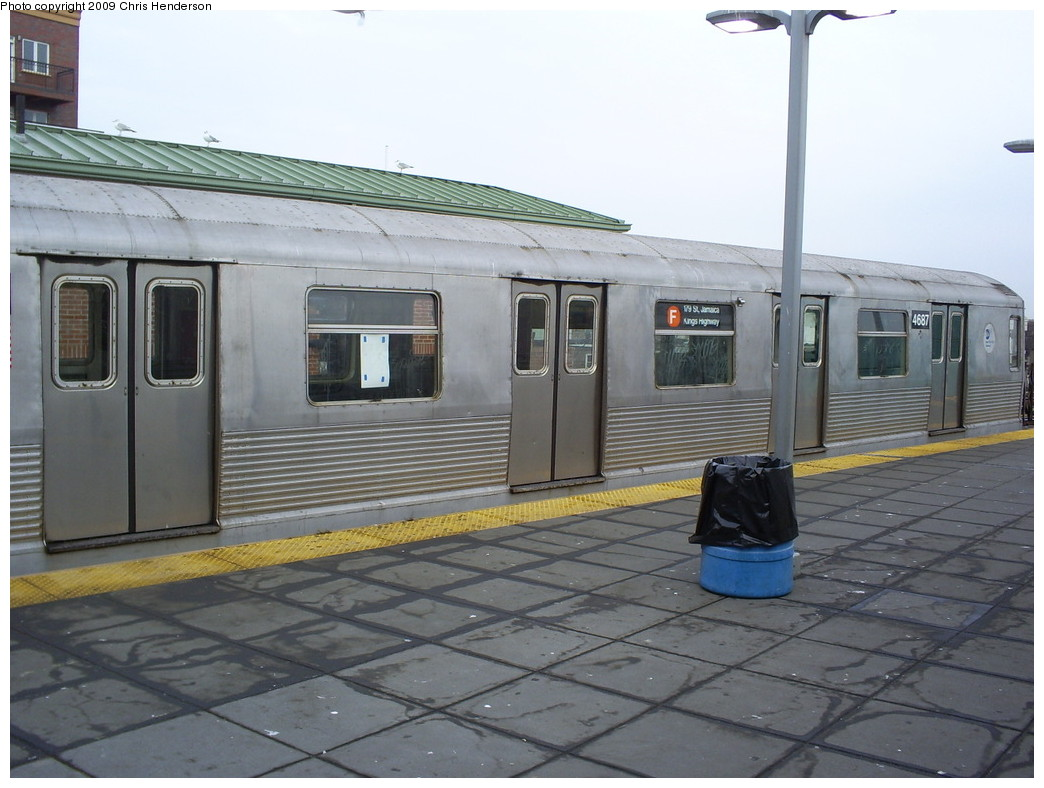 (229k, 1044x788)<br><b>Country:</b> United States<br><b>City:</b> New York<br><b>System:</b> New York City Transit<br><b>Location:</b> Coney Island/Stillwell Avenue<br><b>Route:</b> F<br><b>Car:</b> R-42 (St. Louis, 1969-1970)  4687 <br><b>Photo by:</b> Christopher Henderson<br><b>Date:</b> 2/18/2009<br><b>Viewed (this week/total):</b> 0 / 1690