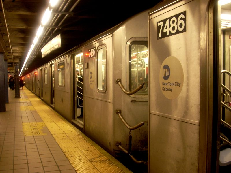 (113k, 800x600)<br><b>Country:</b> United States<br><b>City:</b> New York<br><b>System:</b> New York City Transit<br><b>Line:</b> IRT East Side Line<br><b>Location:</b> 51st Street <br><b>Route:</b> 6<br><b>Car:</b> R-142A (Primary Order, Kawasaki, 1999-2002)  7486 <br><b>Photo by:</b> Bill E.<br><b>Date:</b> 3/1/2009<br><b>Viewed (this week/total):</b> 0 / 1569