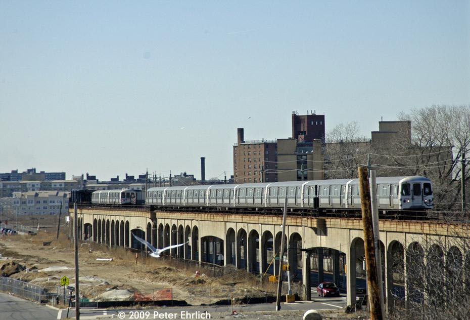 (205k, 930x632)<br><b>Country:</b> United States<br><b>City:</b> New York<br><b>System:</b> New York City Transit<br><b>Line:</b> IND Rockaway<br><b>Location:</b> Beach 60th Street/Straiton <br><b>Route:</b> A<br><b>Car:</b> R-44 (St. Louis, 1971-73) 5358 <br><b>Photo by:</b> Peter Ehrlich<br><b>Date:</b> 2/24/2009<br><b>Notes:</b> Outbound<br><b>Viewed (this week/total):</b> 0 / 1682