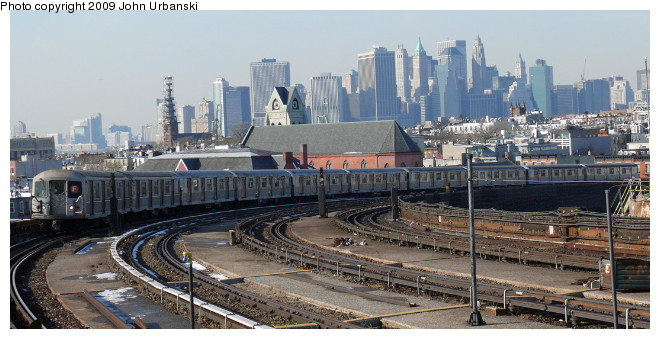 (85k, 660x339)<br><b>Country:</b> United States<br><b>City:</b> New York<br><b>System:</b> New York City Transit<br><b>Line:</b> IND Crosstown Line<br><b>Location:</b> Smith/9th Street <br><b>Route:</b> F<br><b>Car:</b> R-40M (St. Louis, 1969)  4502 <br><b>Photo by:</b> John Urbanski<br><b>Date:</b> 3/5/2009<br><b>Viewed (this week/total):</b> 1 / 2125