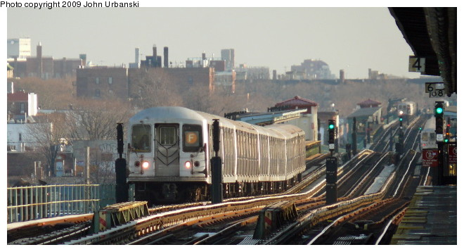 (78k, 660x358)<br><b>Country:</b> United States<br><b>City:</b> New York<br><b>System:</b> New York City Transit<br><b>Line:</b> BMT Culver Line<br><b>Location:</b> Avenue I <br><b>Route:</b> F<br><b>Car:</b> R-42 (St. Louis, 1969-1970)  4646 <br><b>Photo by:</b> John Urbanski<br><b>Date:</b> 3/5/2009<br><b>Viewed (this week/total):</b> 0 / 1382