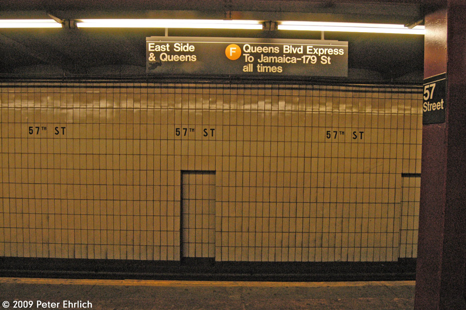 (253k, 930x618)<br><b>Country:</b> United States<br><b>City:</b> New York<br><b>System:</b> New York City Transit<br><b>Line:</b> IND 6th Avenue Line<br><b>Location:</b> 57th Street <br><b>Photo by:</b> Peter Ehrlich<br><b>Date:</b> 3/4/2009<br><b>Viewed (this week/total):</b> 0 / 1613