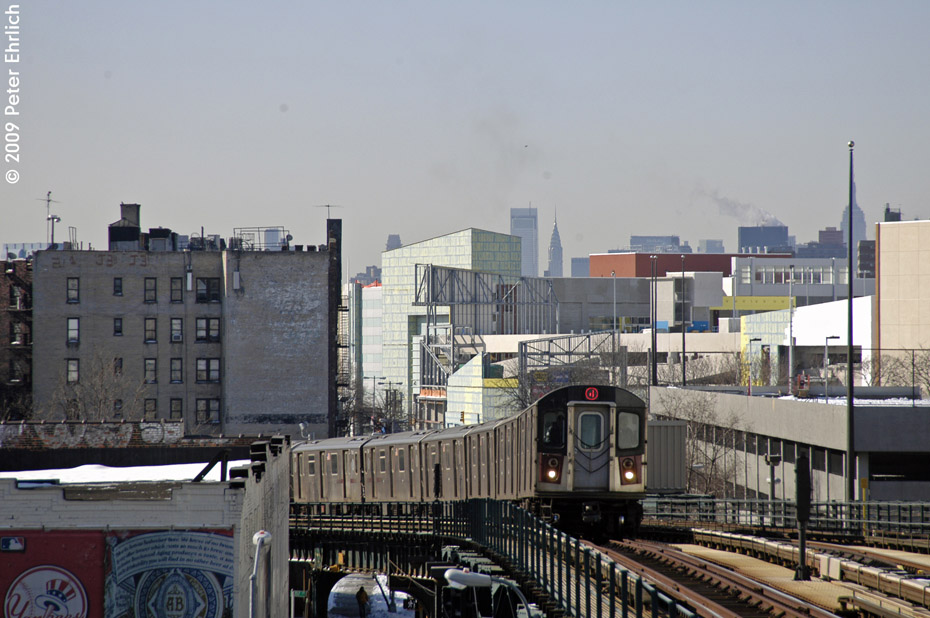(196k, 930x618)<br><b>Country:</b> United States<br><b>City:</b> New York<br><b>System:</b> New York City Transit<br><b>Line:</b> IRT Woodlawn Line<br><b>Location:</b> 161st Street/River Avenue (Yankee Stadium) <br><b>Route:</b> 4<br><b>Car:</b> R-142 (Option Order, Bombardier, 2002-2003)  7065 <br><b>Photo by:</b> Peter Ehrlich<br><b>Date:</b> 3/4/2009<br><b>Notes:</b> Outbound.<br><b>Viewed (this week/total):</b> 0 / 1231