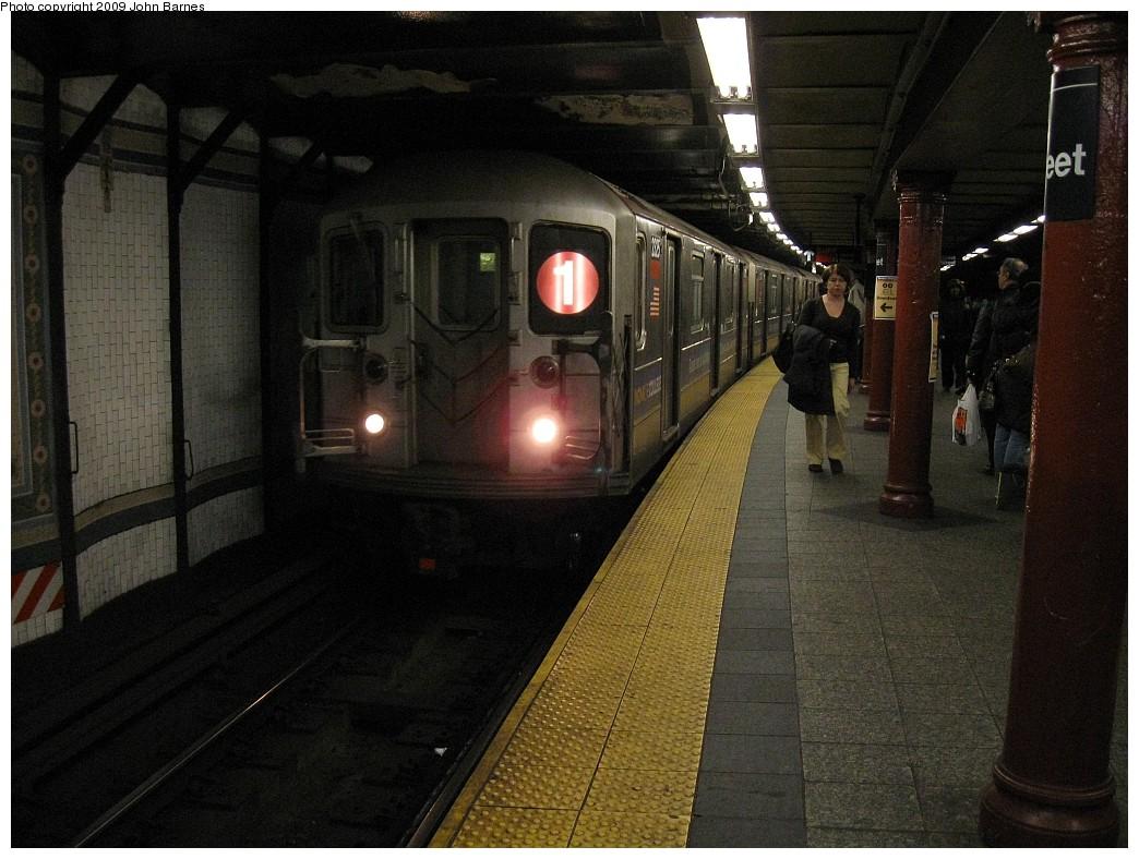 (225k, 1044x788)<br><b>Country:</b> United States<br><b>City:</b> New York<br><b>System:</b> New York City Transit<br><b>Line:</b> IRT West Side Line<br><b>Location:</b> 72nd Street <br><b>Route:</b> 1<br><b>Car:</b> R-62A (Bombardier, 1984-1987)  2325 <br><b>Photo by:</b> John Barnes<br><b>Date:</b> 3/9/2009<br><b>Viewed (this week/total):</b> 2 / 1907