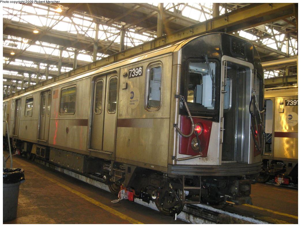 (265k, 1044x788)<br><b>Country:</b> United States<br><b>City:</b> New York<br><b>System:</b> New York City Transit<br><b>Location:</b> 207th Street Shop<br><b>Car:</b> R-142A (Primary Order, Kawasaki, 1999-2002)  7396 <br><b>Photo by:</b> Robert Mencher<br><b>Date:</b> 3/7/2009<br><b>Viewed (this week/total):</b> 2 / 1091