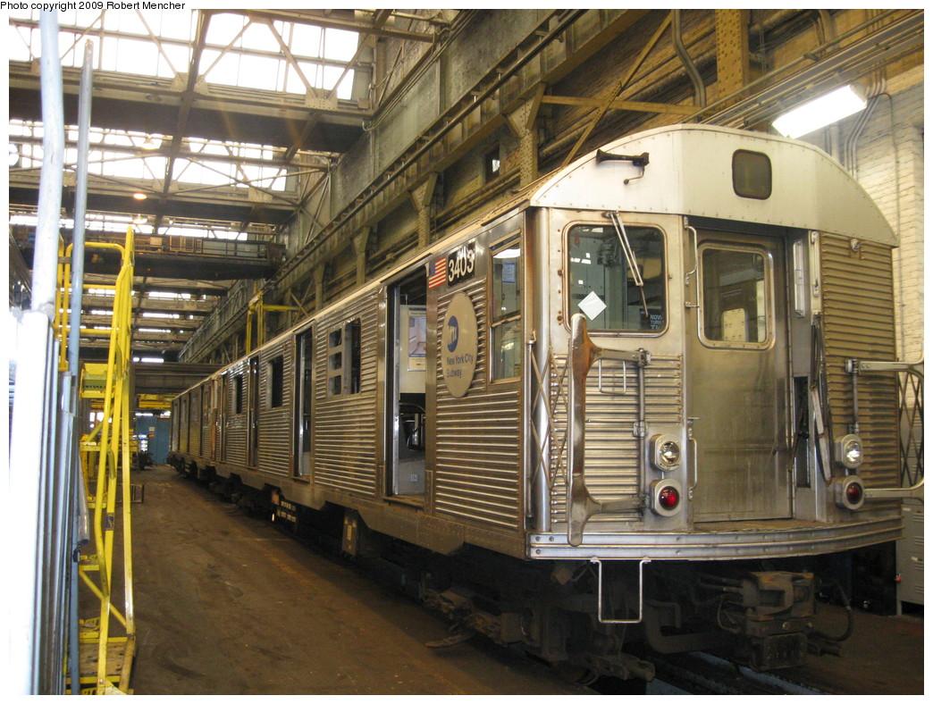 (277k, 1044x788)<br><b>Country:</b> United States<br><b>City:</b> New York<br><b>System:</b> New York City Transit<br><b>Location:</b> 207th Street Shop<br><b>Car:</b> R-32 (Budd, 1964)  3403 <br><b>Photo by:</b> Robert Mencher<br><b>Date:</b> 3/7/2009<br><b>Viewed (this week/total):</b> 2 / 776