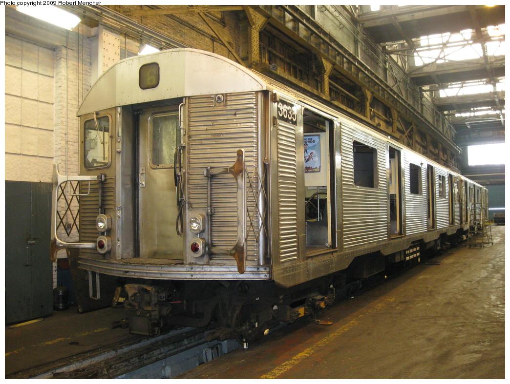 (272k, 1044x788)<br><b>Country:</b> United States<br><b>City:</b> New York<br><b>System:</b> New York City Transit<br><b>Location:</b> 207th Street Shop<br><b>Car:</b> R-32 (Budd, 1964)  3635 <br><b>Photo by:</b> Robert Mencher<br><b>Date:</b> 3/7/2009<br><b>Viewed (this week/total):</b> 1 / 692