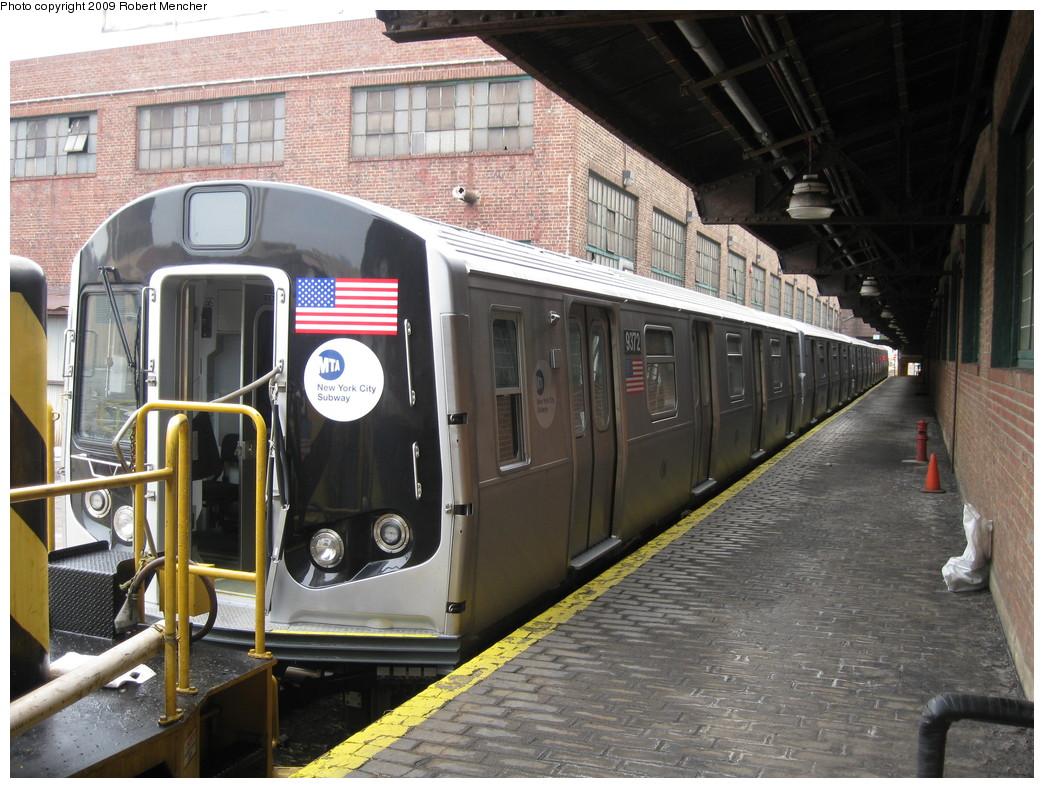 (256k, 1044x788)<br><b>Country:</b> United States<br><b>City:</b> New York<br><b>System:</b> New York City Transit<br><b>Location:</b> 207th Street Yard<br><b>Car:</b> R-160A (Option 1) (Alstom, 2008-2009, 5 car sets)  9372 <br><b>Photo by:</b> Robert Mencher<br><b>Date:</b> 3/7/2009<br><b>Viewed (this week/total):</b> 0 / 1545
