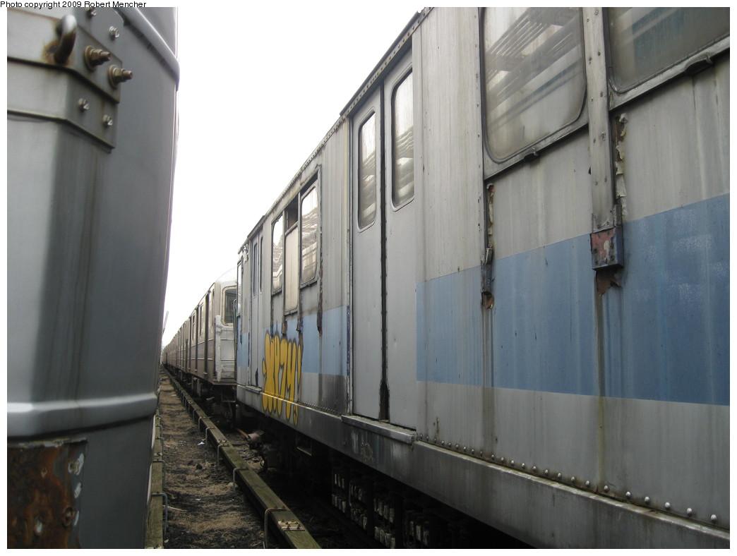 (163k, 1044x788)<br><b>Country:</b> United States<br><b>City:</b> New York<br><b>System:</b> New York City Transit<br><b>Location:</b> 207th Street Yard<br><b>Car:</b> R-14 (American Car & Foundry, 1949) 35871 <br><b>Photo by:</b> Robert Mencher<br><b>Date:</b> 3/7/2009<br><b>Viewed (this week/total):</b> 3 / 995