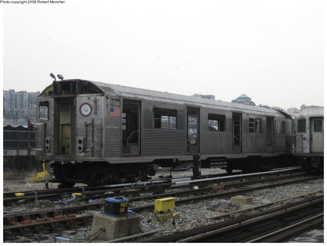 (169k, 1044x788)<br><b>Country:</b> United States<br><b>City:</b> New York<br><b>System:</b> New York City Transit<br><b>Location:</b> 207th Street Yard<br><b>Car:</b> R-38 (St. Louis, 1966-1967)  3988 <br><b>Photo by:</b> Robert Mencher<br><b>Date:</b> 3/7/2009<br><b>Notes:</b> Scrap<br><b>Viewed (this week/total):</b> 0 / 883