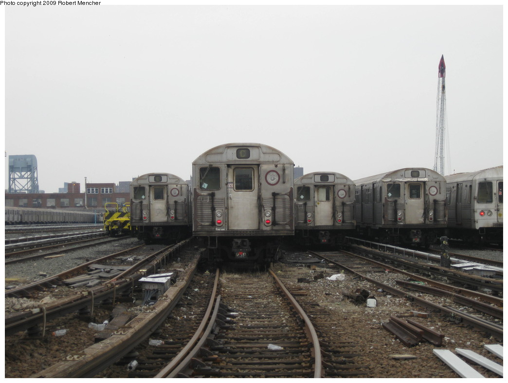 (175k, 1044x788)<br><b>Country:</b> United States<br><b>City:</b> New York<br><b>System:</b> New York City Transit<br><b>Location:</b> 207th Street Yard<br><b>Car:</b> R-38 (St. Louis, 1966-1967)   <br><b>Photo by:</b> Robert Mencher<br><b>Date:</b> 3/7/2009<br><b>Viewed (this week/total):</b> 3 / 1362