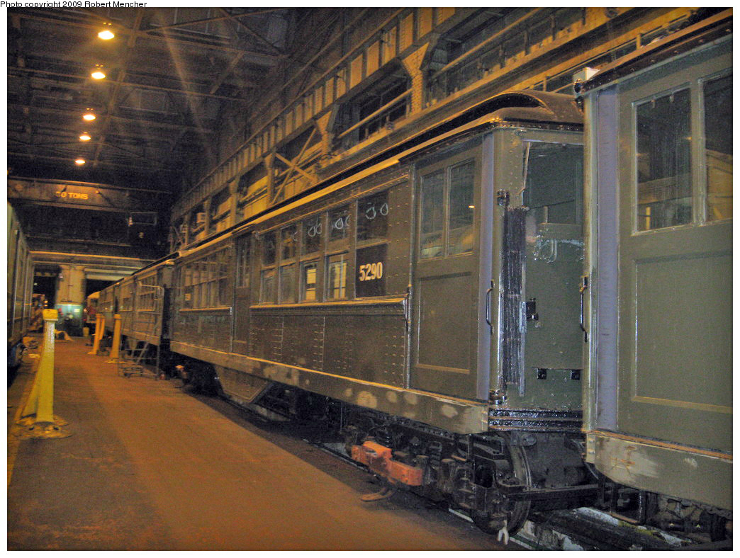 (634k, 1044x788)<br><b>Country:</b> United States<br><b>City:</b> New York<br><b>System:</b> New York City Transit<br><b>Location:</b> 207th Street Shop<br><b>Car:</b> Low-V (Museum Train) 5290 <br><b>Photo by:</b> Robert Mencher<br><b>Date:</b> 3/7/2009<br><b>Viewed (this week/total):</b> 0 / 716