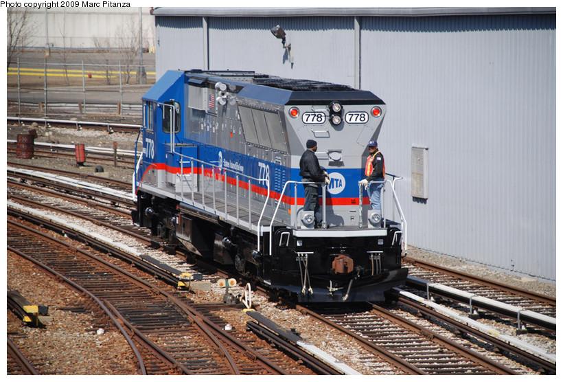 (189k, 820x556)<br><b>Country:</b> United States<br><b>City:</b> New York<br><b>System:</b> New York City Transit<br><b>Line:</b> SIRT<br><b>Location:</b> Clifton Yard/Shops <br><b>Car:</b> SIRT Brookville BL-20G 778 <br><b>Photo by:</b> Marc Pitanza<br><b>Date:</b> 3/12/2009<br><b>Viewed (this week/total):</b> 2 / 1211