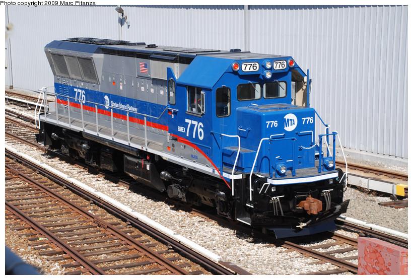 (202k, 820x556)<br><b>Country:</b> United States<br><b>City:</b> New York<br><b>System:</b> New York City Transit<br><b>Line:</b> SIRT<br><b>Location:</b> Clifton Yard/Shops <br><b>Car:</b> SIRT Brookville BL-20G 776 <br><b>Photo by:</b> Marc Pitanza<br><b>Date:</b> 3/12/2009<br><b>Viewed (this week/total):</b> 0 / 1569