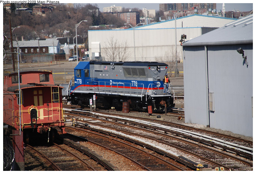 (190k, 820x556)<br><b>Country:</b> United States<br><b>City:</b> New York<br><b>System:</b> New York City Transit<br><b>Line:</b> SIRT<br><b>Location:</b> Clifton Yard/Shops <br><b>Car:</b> SIRT Brookville BL-20G 778 <br><b>Photo by:</b> Marc Pitanza<br><b>Date:</b> 3/12/2009<br><b>Viewed (this week/total):</b> 0 / 1297