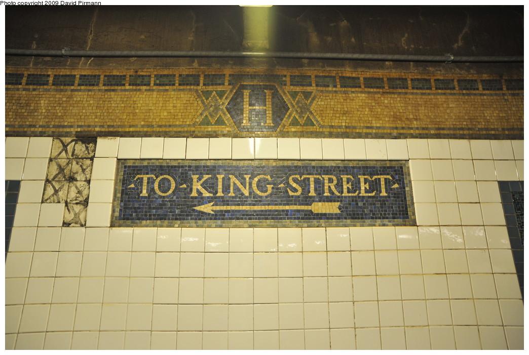 (247k, 1044x701)<br><b>Country:</b> United States<br><b>City:</b> New York<br><b>System:</b> New York City Transit<br><b>Line:</b> IRT West Side Line<br><b>Location:</b> Houston Street<br><b>Photo by:</b> David Pirmann<br><b>Date:</b> 3/15/2009<br><b>Notes:</b> To King Street tablet.<br><b>Viewed (this week/total):</b> 0 / 1318
