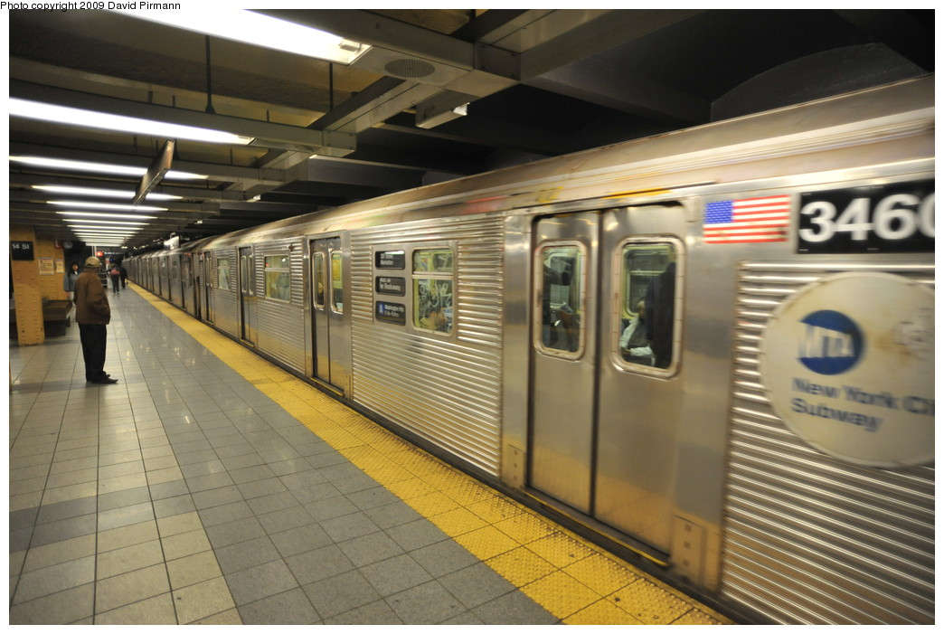 (254k, 1044x701)<br><b>Country:</b> United States<br><b>City:</b> New York<br><b>System:</b> New York City Transit<br><b>Line:</b> IND 8th Avenue Line<br><b>Location:</b> 14th Street <br><b>Route:</b> A<br><b>Car:</b> R-32 (Budd, 1964)  3460 <br><b>Photo by:</b> David Pirmann<br><b>Date:</b> 3/15/2009<br><b>Viewed (this week/total):</b> 1 / 1043
