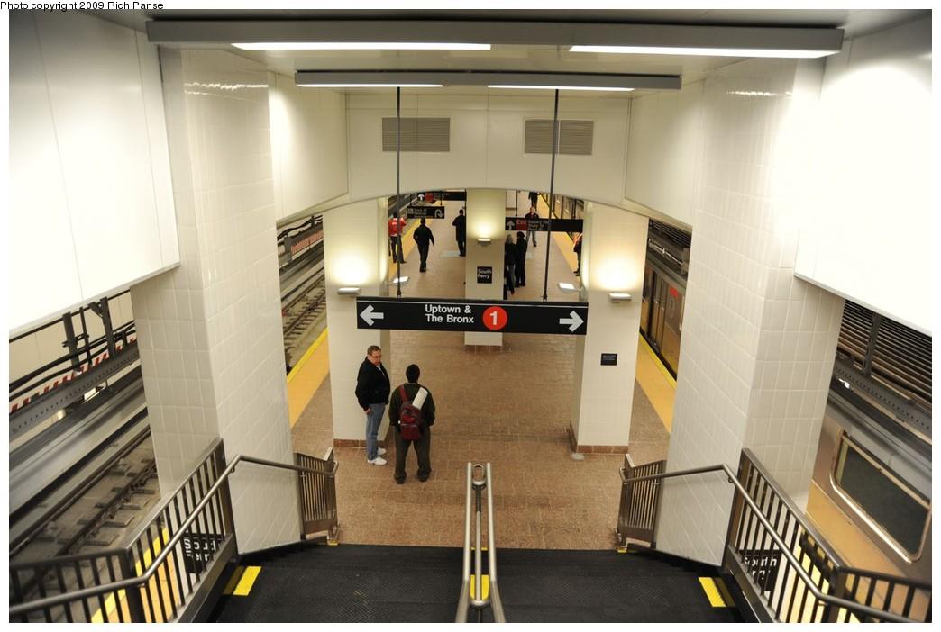 (200k, 1044x702)<br><b>Country:</b> United States<br><b>City:</b> New York<br><b>System:</b> New York City Transit<br><b>Line:</b> IRT West Side Line<br><b>Location:</b> South Ferry (New Station) <br><b>Photo by:</b> Richard Panse<br><b>Date:</b> 3/16/2009<br><b>Viewed (this week/total):</b> 0 / 1374